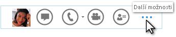 Snímek obrazovky s panelem Quick Lync – Další možnosti