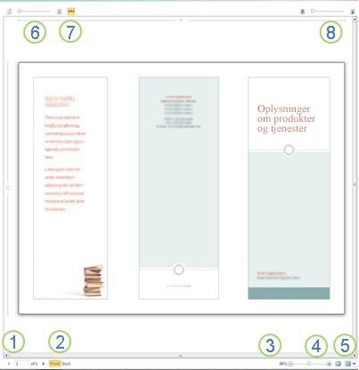 Vis udskrift i Publisher 2010