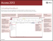 Access 2013 - Schnellstarthandbuch