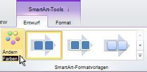 Ändern der Farbe einer SmartArt-Grafik