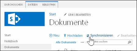 Synchronisieren einer Websitebibliothek