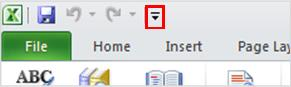 Excel Quick Access Toolbar Speak command