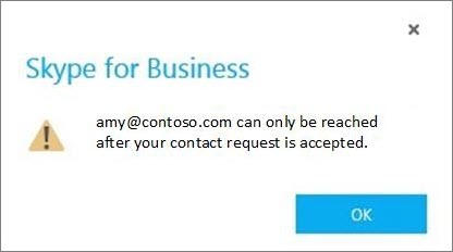 Notification to accept Skype contact request