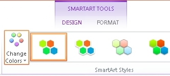 Change Colors button in SmartArt Styles group
