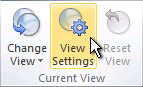 View Settings command on the ribbon