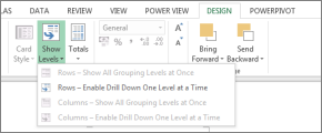 Power View Drill levels