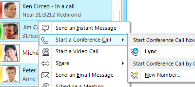 Start a Conference Call