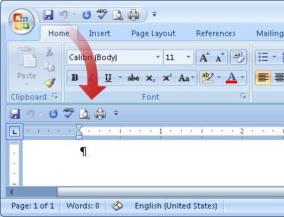 Move Quick Access Toolbar