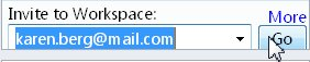 Inviting to a workspace via e-mail address