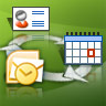 Outlook Contacts and Calendar can be connected
