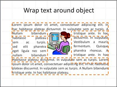 slide with object inserted, text boxes shown, and text completed.