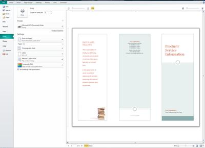 Publisher print settings overview