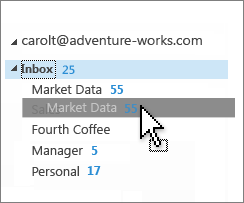 Customize inbox
