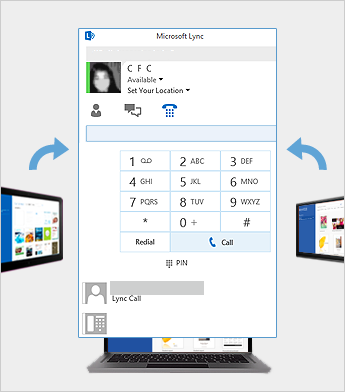 Online meeting using Lync