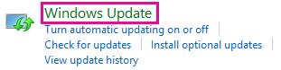 Windows 8 Windows Update link in Control Panel