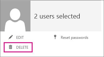 Click Delete to delete the user account