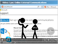 Thumbnail and link to video: Link Online Extetrnal Communications