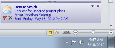 Outlook Desktop Alert