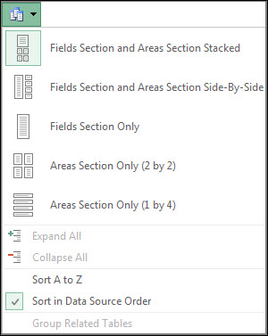 Field List Tools menu