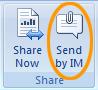 Send an open Office document as a Lync 2010 IM attachment