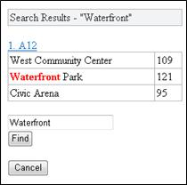 Search results in Mobile Viewer for Excel