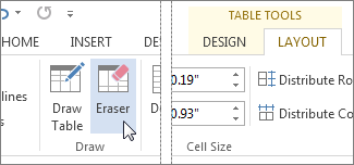 Table Tools Eraser