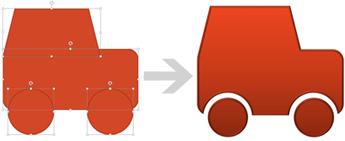 Merge common shapes