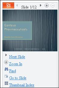 Slide view in Mobile Viewer for PowerPoint