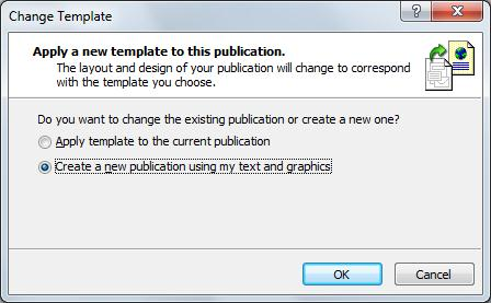 Change your template with this dialog