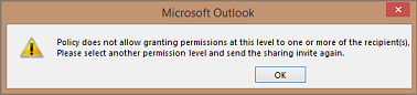 Error message - Policy does not allow granting permissions