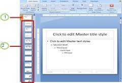Slide master with associated layouts