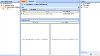 Screenshot of a completed dashboard in Dashboard Designer