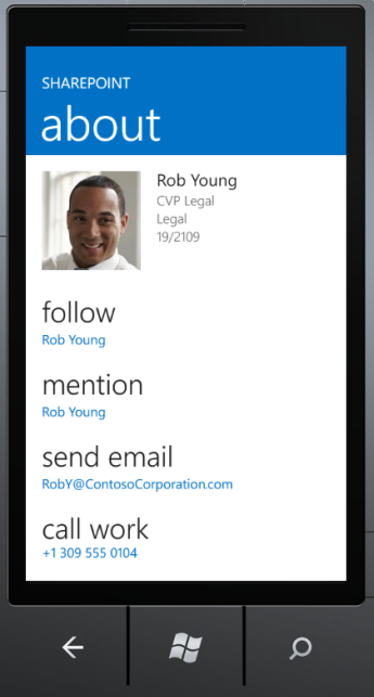 SharePoint Newsfeed App about screen