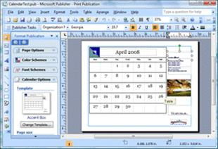 Change dates on a calendar in Microsoft Office Publisher
