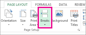 Click Breaks on the Page Layout tab