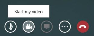 Screen shot of Start my video