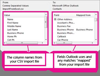 Map Custom Fields dialog box