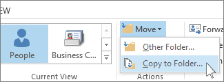 Copy to Folder command on the Move menu