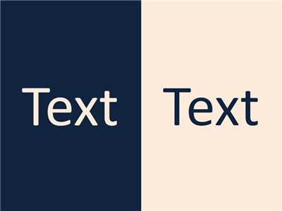 Text on a contrasting background