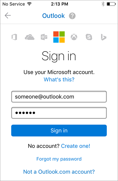 Sign in with your email address and password