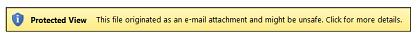 Protected View for email attachments