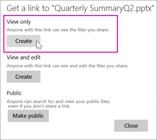 Share a view-only copy of your presentation