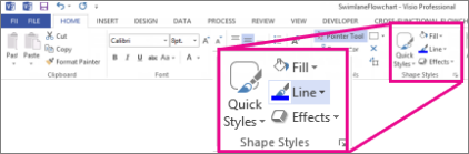 Shape Styles in Visio