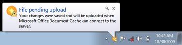 upload center pop-up notification
