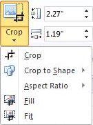 list after click the crop button