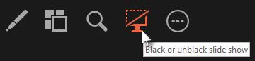 Black or unblack a slide