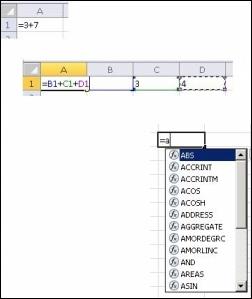 Creating formulas in different ways