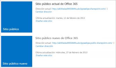 Administrar sitios web públicos en Office 365 para pequeñas empresas
