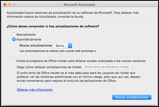 Office para Mac AutoUpdate