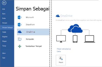 Guardar un archivo en OneDrive